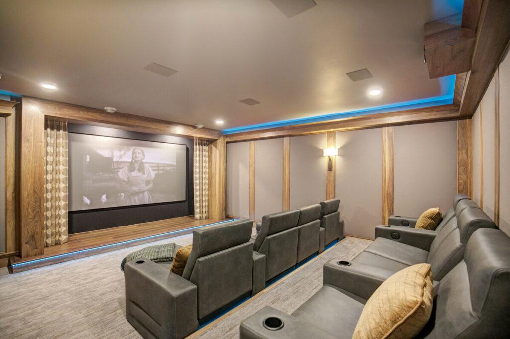 Home Theater Basement Finishing Trend