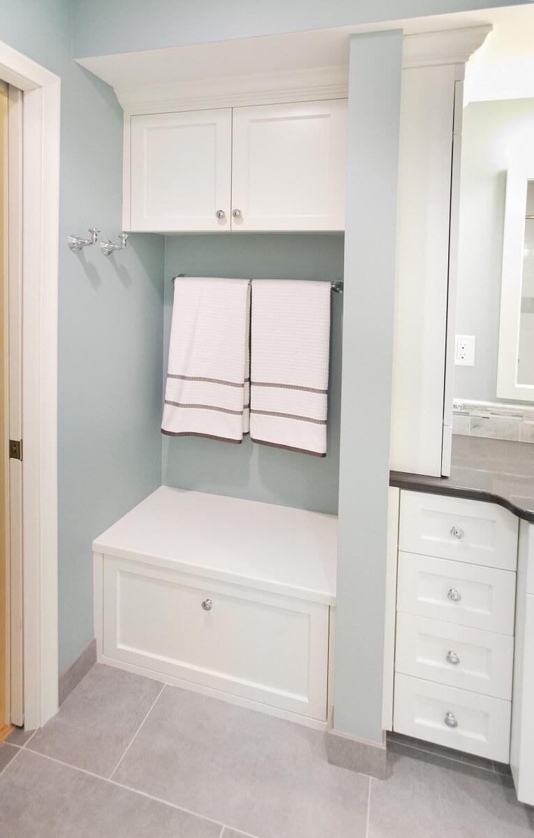 Custom Cabinets in MN Bathroom Remodel
